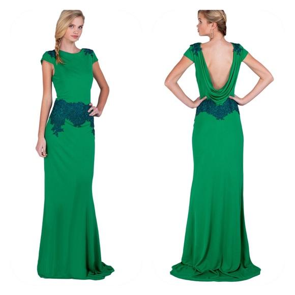 Badgley Mischka Dresses | Cowl Back Gowndress 6 | Poshmark